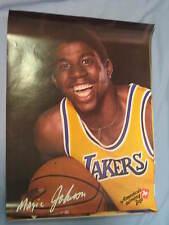 Original 1979 LA Lakers Magic Johnson 19x25in. Basketball 7Up Poster MINT