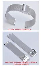 Klassisches Edelstahl Melanese Uhrenarmband  14mm Ansatzbreite