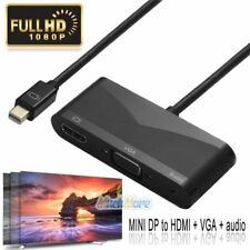 Mini DisplayPort DP Thunderbolt To 4K HDMI VGA Audio Adapter Cable for Macbook