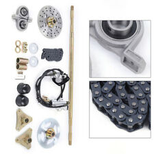New listing Rear Axle Kit with T8F Chain+Brake Assembly+Pillow Blocks for Go Kart ATV Quad