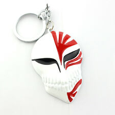 Anime Bleach Ichigo Kurosaki Keychain Halloween Party Mask Alloy Key Ring