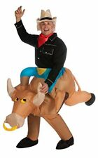INFLATABLE COSTUME BULL RIDER ADULT FANCY DRESS COWBOY RODEO Halloween