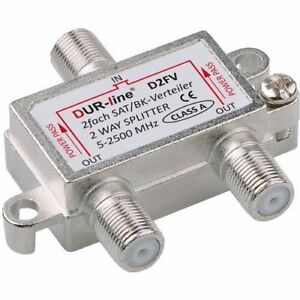 DUR-line D2FV SAT & BK-Verteiler 2-fach Splitter | DC-Durchlass, Unicable-fähig
