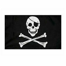 Pirates Flag Jolly Roger Skull Cross Bones 5ft X 3ft Kids Events Halloween