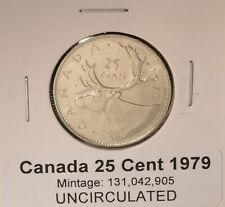 1979 Brilliant Uncirculated Quarter - 25cent Quarter - Caribou