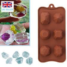 Wedding Diamond Gem Ice Cube Tray Chocolate Fondant Silicone Cake Mold Mould