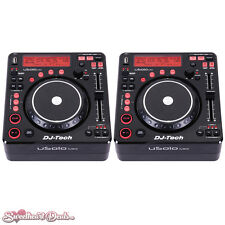 Pair of DJ-Tech U Solo MKII - Compact Twin USB Player and Controllers