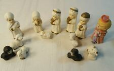 13 piece Nativity Holy Family Kings Camel Sheperd cow sheep includes Avon king13