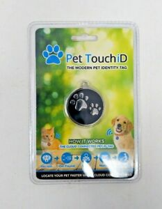 Pet Touch ID - Smart Dog ID Tags, QR Code, Online Pet Page, GPS Location, Sealed
