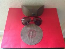 MORGENTHAL FREDERICS MENS $535 BROWN  AVIATOR SUNGLASSES NEW IN CASE JAPAN🇯🇵
