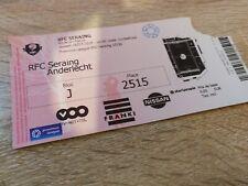Ticket  Seraing Anderlecht Amical Belgique 2015