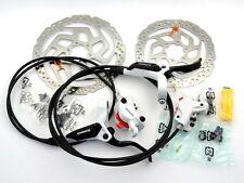 Scheibenbremsen Set Shimano BR-M 395 /396 Weiß VR + HR RT 56 Scheiben 160/180mm