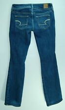 LOW Embroidered Pocket SLIM Boot Cut AMERICAN EAGLE Stretch Jeans! 0 short