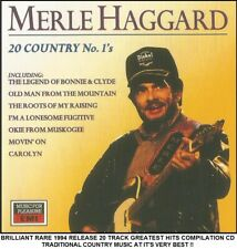 Merle Haggard - Very Best 20 Greatest Hits Collection RARE Country Music CD 70's