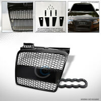 Fits 06-08 Audi A4 B7 Matte Blk RS-Honeycomb Mesh Front Hood Bumper Grill Grille