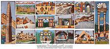 135x110 cm tapis oriental soie Afghanistan carte tapisserie cadres en bois map -- xl