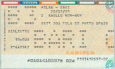 68456  - Vecchio  BIGLIETTO PARTITA CALCIO - 1990 / 1991 : MILAN /  BARI