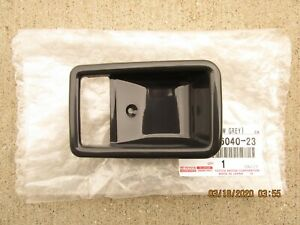 80 - 90 TOYOTA LAND CRUISER FJ60 FJ62 REAR LEFT DOOR HANDLE BEZEL TRIM GRAY NEW