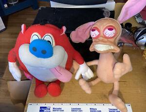 REN & STIMPY Show Rude Toot Fart Mattel Nickelodeon 1992 Plush Dolls