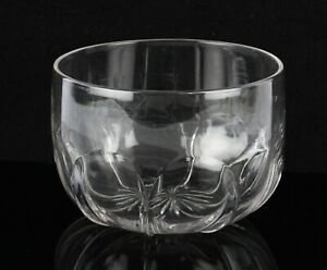 antique 19th Century Victorian glass finger bowl rinser with moulded panels
