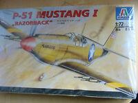 """ITALERI Modellbausatz Nr 090 im Maßstab 1:72: P-51 MUSTANG I """"RAZORBACK"""""""