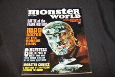 1966 MONSTER WORLD #1 WEREWOLF COVER! WARREN VF-