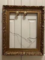 19th c. Large Victorian Gold Gilt & Gesso Frame