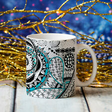 Mandala Art Mug Hand Drawn Customizable Jumbo Big Large 20oz Coffee Cup