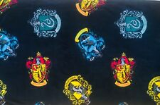 Harry Potter House Crests Fleece Fabric 1/2 Yard Hogwarts 100% Polyester 58in