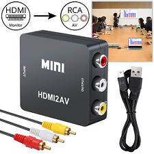 1080P HDMI to AV RCA CVBs Composite Video Audio Converter Adapter With USB Cable