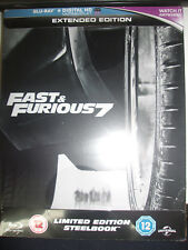 Fast & Furious 7 Extended Edition SteelBook (Region Free UK Import) New Sealed