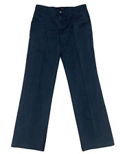 OAKMAN Chinos Trousers Pants Mens 32L / W34 Blue Cotton Casual Spring/Summer