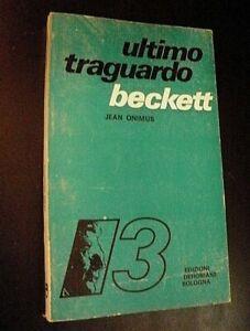 Jean Onimus BECKETT / Ultimo Traguardo Dehoniane 1979