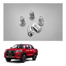Genuine 4 Wheel Lug Nuts + 1 Block Silver For Toyota Hilux Revo Rocco 2015 2019