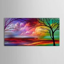 100% handicraft Large Art Abstract oil painting on canvas(no Framed)