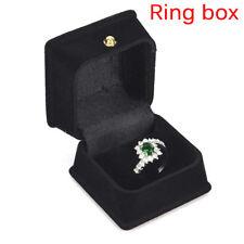 Black Velvet Necklace Display Jewelry Pendant Ring Display Storage Box Case GS