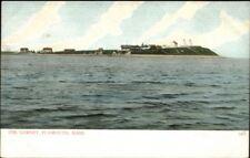 Plymouth MA Gurnet Lighthouses c1910 Postcard Version #7