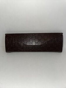 Gucci Guccissima Foldable Glasses Case- Case Only Trifold Brown Hard Case
