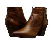 New in Box FRYE Womens Renee Seam Short Boot Cognac Size 11 M MSRP $ 298