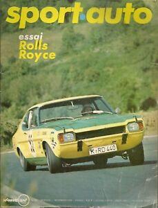 SPORT AUTO 94 1969 TOUR DE FRANCE GP ETATS UNIS GP CANADA ROLLS RO SILVER SHADOW