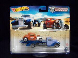 Hot Wheels Car Culture Team Transport 1932 Ford & Speed Waze.