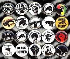 60 BLACK POWER NEW 1 inch pins buttons badges PANTHERS RALLY BLACK LIVES MATTER