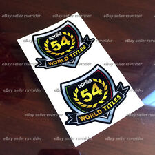 aprilia 54 world titles champion decal sticker set fits rsv4 tuono all models