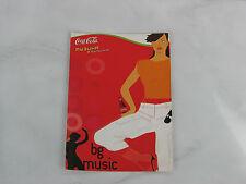 Coca cola music bottle bg boy postale postcard used rare red