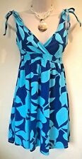 Ladies Size UK 8 blue mix Holiday/Beach dress