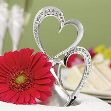 Hortense B. Hewitt Wedding Accessories Sparkling Love Double Heart Cake Topper