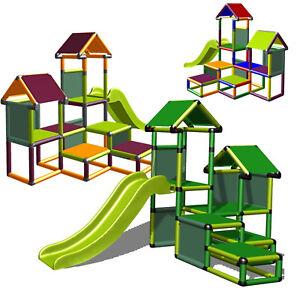 Moveandstic Spielturm Gesa Kletterturm mit Rutsche und Kriechtunnel Kleinkinder