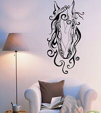 Wall Stickers Vinyl Decal Horse Head Animal Mustang Cool Decor  (z1956)