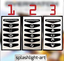 18x OVERWATCH PS4 Controller Light bar pack 1 2 & 3 VINYL Decal Sticker skin