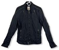 Diesel Jurlo Men's Nylon Light Moto Jacket Bomber Trim Fit Black Size M